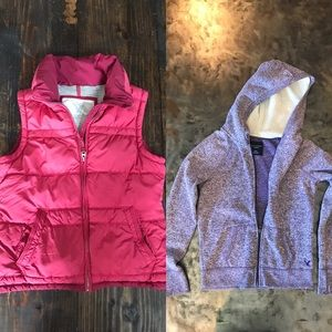 Women's American Eagle jacket and vest medium